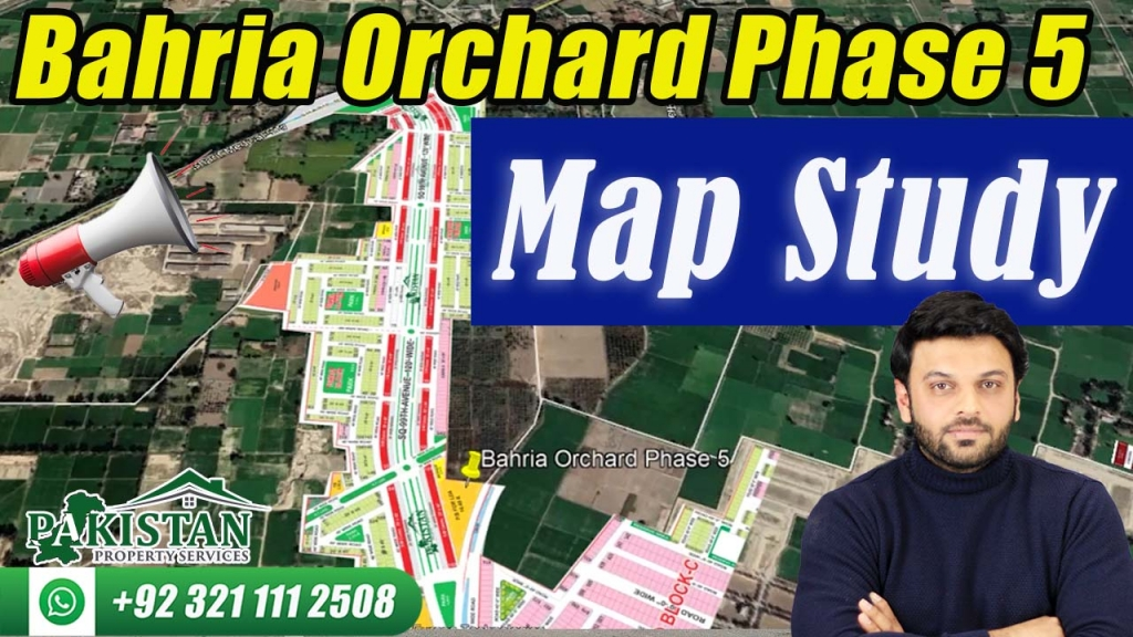 Bahria Orchard Phase 5 Map Study | Plots on Installments