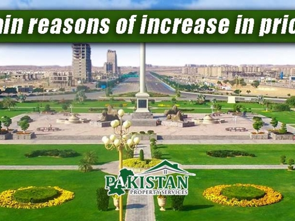 What are the main reasons of increase in prices in Bahria Town Karachi
