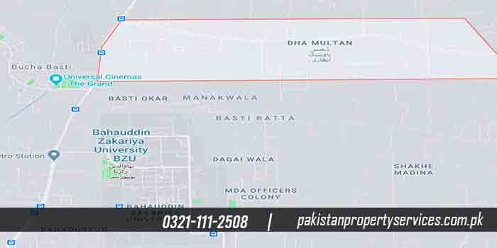 DHA Multan Location