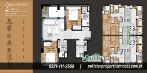 Marina Apartments Layout Plan of the Apartment Buildin 2