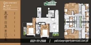 Marina Apartments Layout Plan of the Apartment Buildin 3