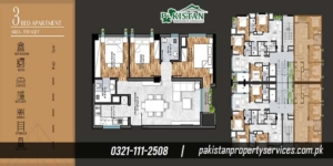 Marina Apartments Layout Plan of the Apartment Buildin 4