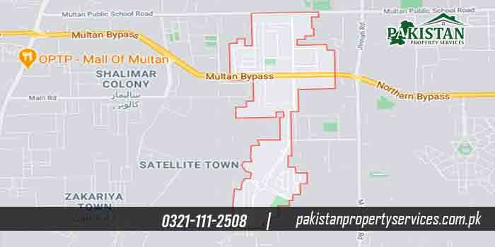 Wapda Town Multan Location