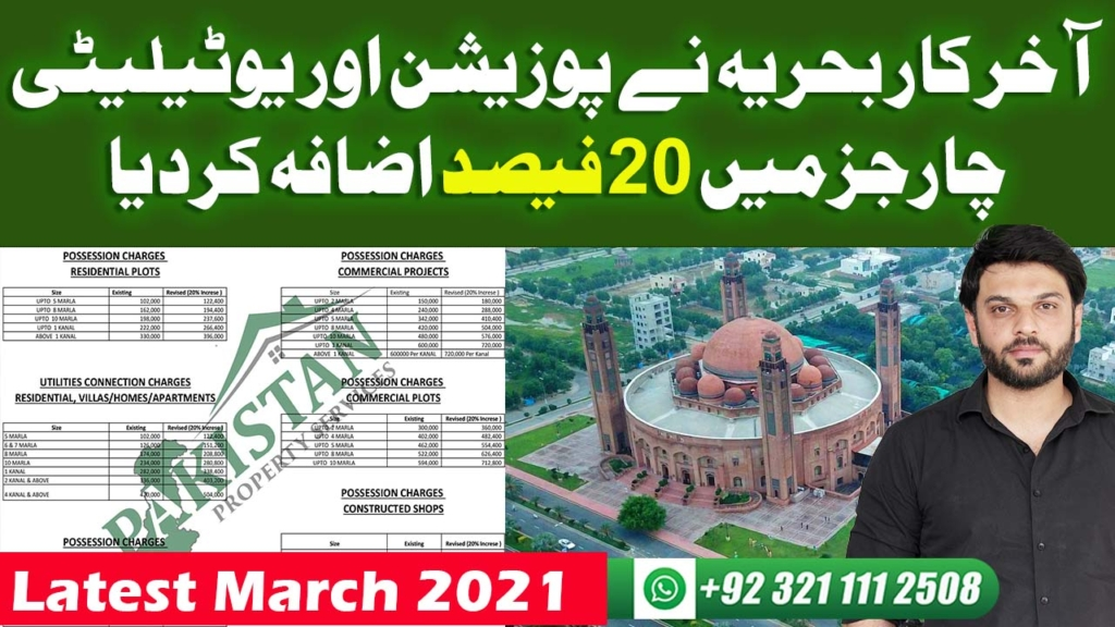 How Much Possession Charges And Utilities Charges Are Increased | Bahria Town Lahore | Latest Update