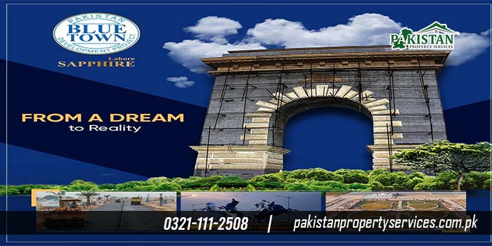 blue town phase 1 sapphire lahore Location