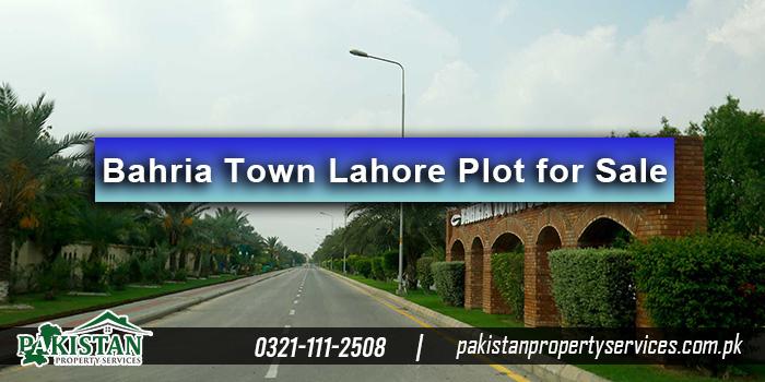 Bahria Town Lahore Plot for Sale