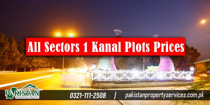 Bahria Town Lahore All Sectors 1 Kanal Plots Prices