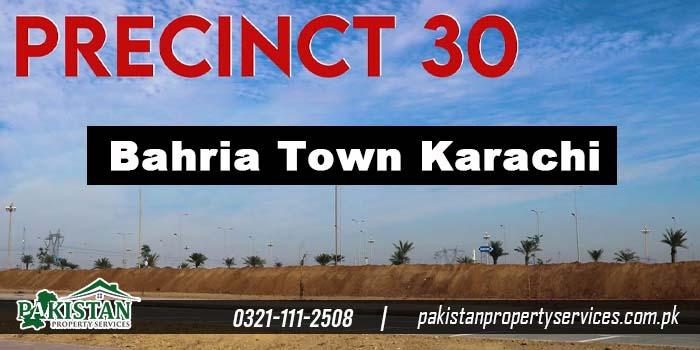 precinct 30 plot bahria town karachi