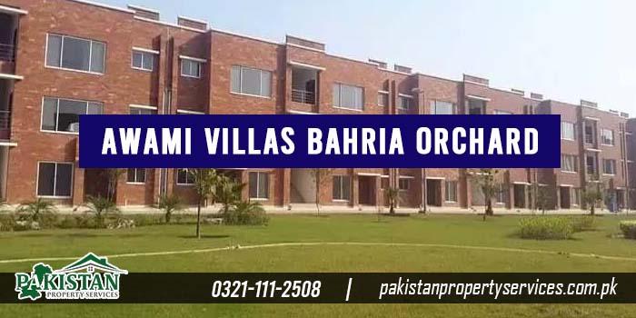 Awami Villas Bahria Orchard Lahore