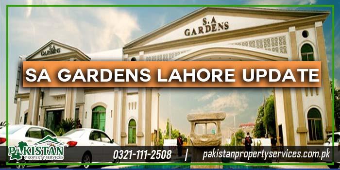 SA Gardens Lahore Location